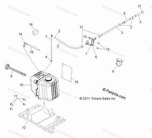 Polaris Side By Side 2012 Oem Parts Diagram For Body  Fuel