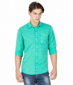 Mufti Green Cotton Shirt - Buy Mufti Green Cotton Shirt Online at Low Price in India - Snapdeal