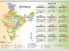 October 2017 Calendar With Indian Holidays – Printable