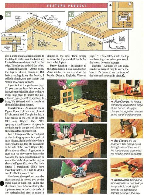 knock  workbench plans woodarchivist