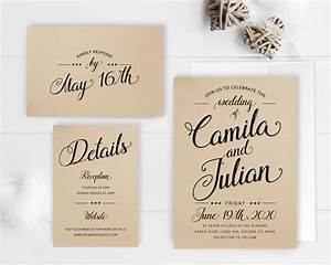 Cheap wedding invitation packages kraft wedding invitation for Wedding invitations and rsvp packages cheap