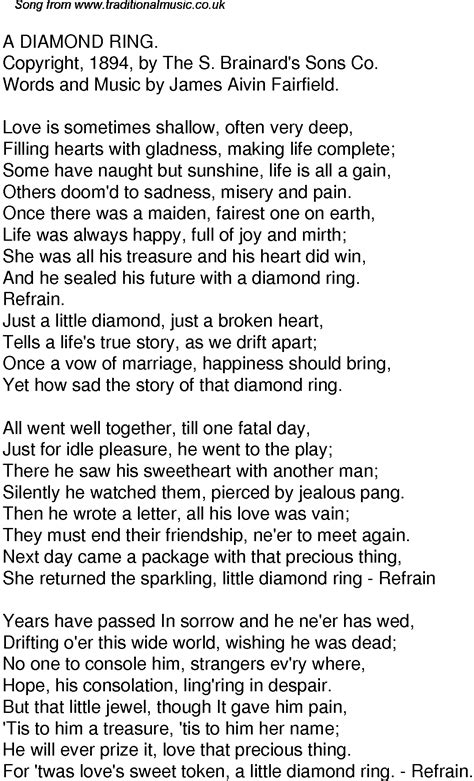 time song lyrics for 46 a ring