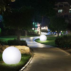 Garten Stehleuchten Aussen : led au en kugelleuchte garten lampe granit stein optik ~ Lateststills.com Haus und Dekorationen