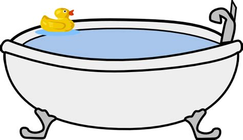 Bath Tub Clipart by Bath Tub With Rubber Duck Clip At Clker Vector