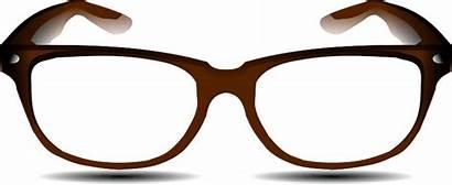 Glasses Brown Clip Clipart Eyeglasses Svg Clker