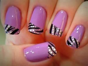 Multicolor nail art zebra french manicure designs trendy mods