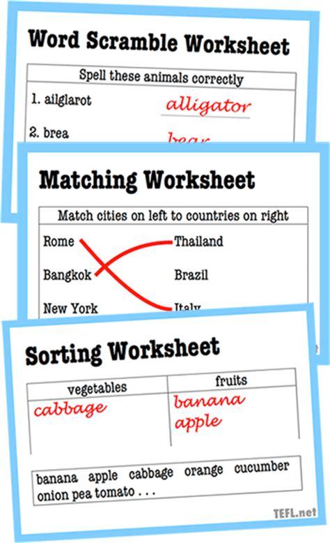 guide  esl worksheets teflnet