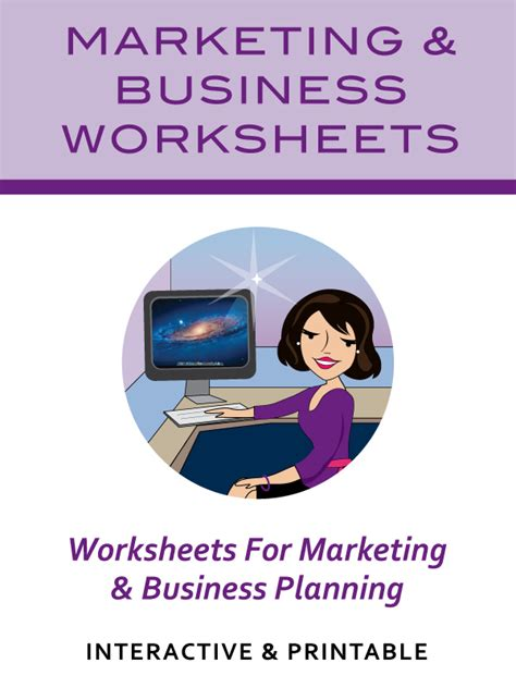 marketing for business business marketing worksheets get organized wizard