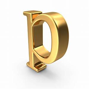 gold small letter p png images psds for download With gold letter p