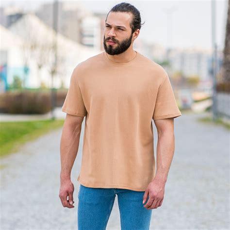 Men's Dotwork Oversize T-Shirt In Beige