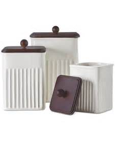 Martha Stewart Kitchen Canisters by Martha Stewart Collection 3 Pc Ceramic Wood Canister