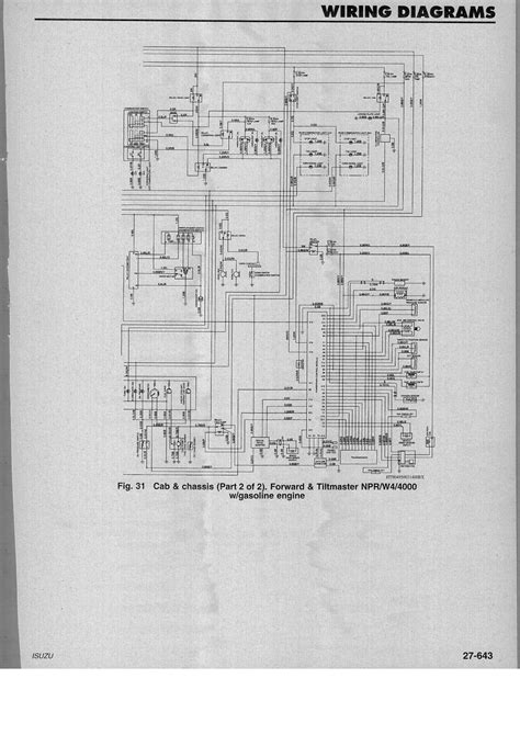 Wiring Diagram For Isuzu Dmax by Wiring Diagrams Gm Isuzu 1995 1 2 W4 4000 Npr Gasoline