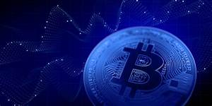 Blue Abstract Bitcoin Chart 3d Illustration Blackwell