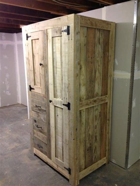 building cabinets out of pallets diy pallet cabinet for storage 101 pallets