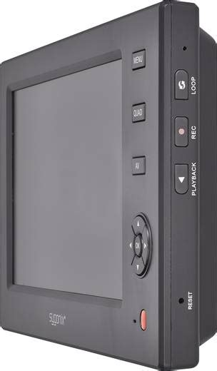 funk 220 berwachungskamera set 4 kanal mit 1 kamera 640 x 480 pixel 2 4 ghz sygonix large monitor