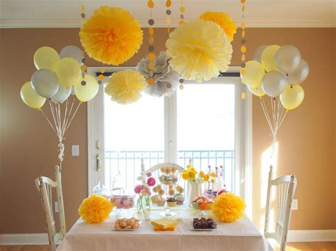 yellow party shower decoration package baby shower