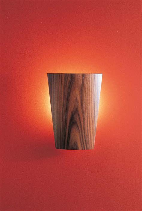 le a led lea unique wooden wall light