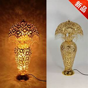 luxury fashion crystal vase floor lamp bedroom lamp coffee With gold vase floor lamp