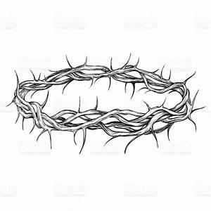 Coroa De Espinhos Símbolo Religioso Desenhado à Mão ...