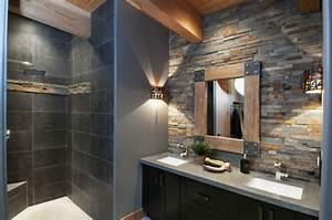 stunning salle de bain rustique chic gallery amazing With salle de bains porcelanosa