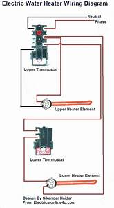 Wiring Diagram For A Dual Element Electric Water Heater