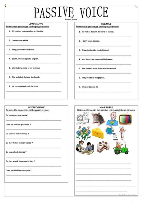 Passive Voice Present Simple Exercise Worksheet  Free Esl Printable Worksheets Made By Teachers