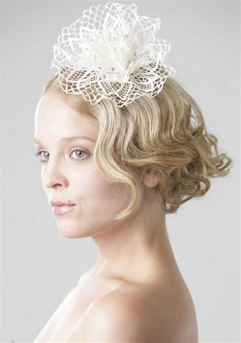 Collection of Bridal Fascinators for Short Hair