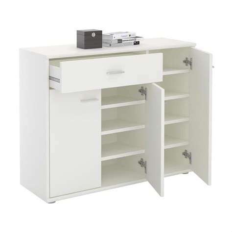 Commode A Chaussure by Meuble 224 Chaussures Commode Rangement Mdf M 233 Lamin 233 Blanc