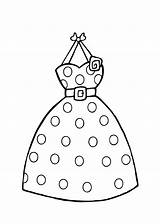 Coloring Pages Printable Clothing Colouring Dresses Dot Polka Clothes Clipart Barbie Sheets Dots Template Summer Princess Books Templates Stores Clip sketch template