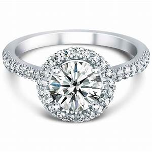 halo ring halo ring engagement ring With halo wedding rings