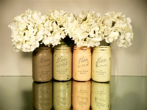 shabby chic fall wedding fall wedding and home decor painted and distressed shabby chic mason jars pumpkin wide mouth