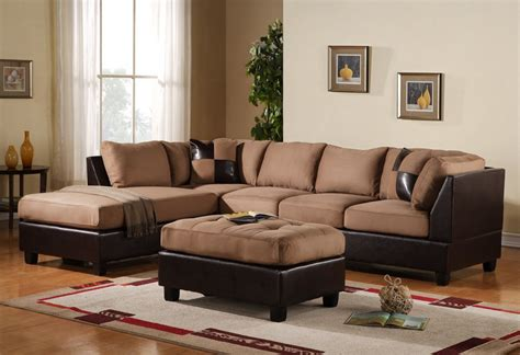 leather and microfiber sectional 3pc sectional sofa microfiber bonded leather set w