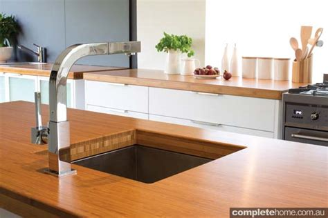 en sink benchtop an eco friendly family kitchen design completehome kitch