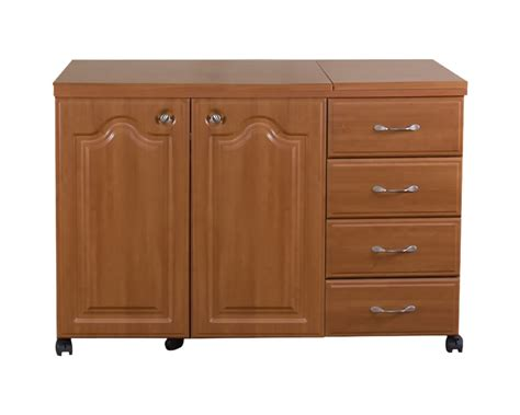 sewing cabinets with lift sewingrite extra wide space saver sewing cabinet with