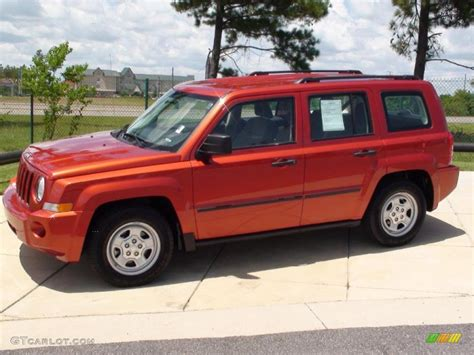 orange jeep patriot 2009 sunburst orange pearl jeep patriot sport 4x4