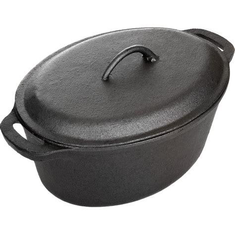 cajun cookware  quart cast iron oval casserole gla shopperschoicecom