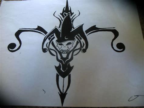 black tribal jester tattoo design jester tattoo tattoo