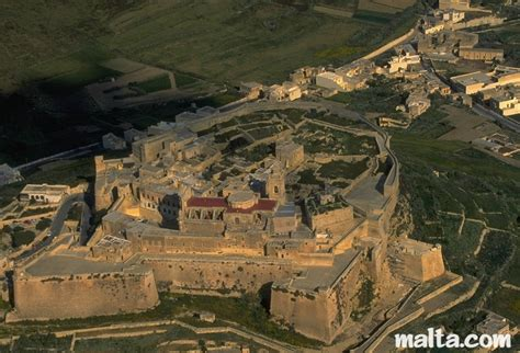 cittadella fortification in the of gozo