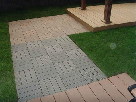wood plastic composite diy easy decking tiles edt