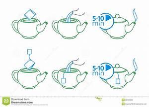 Instructions For Making Tea Stock Vector - Illustration of ...