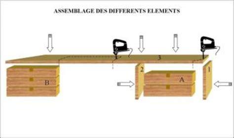 comment fabriquer un bureau plan pour fabriquer un bureau en bois maison design