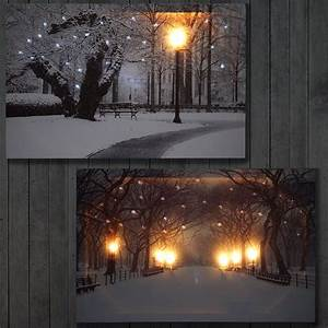 Bilder Mit Led Beleuchtung : 2x led bild leinwandbild leuchtbild wandbild 60x40cm timer winter flackernd ~ A.2002-acura-tl-radio.info Haus und Dekorationen