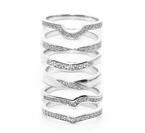 fitting inspiration for diamond shaped wedding rings