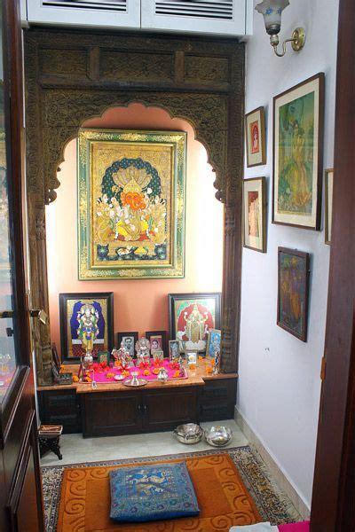 corner  shrine india home decor pooja room design