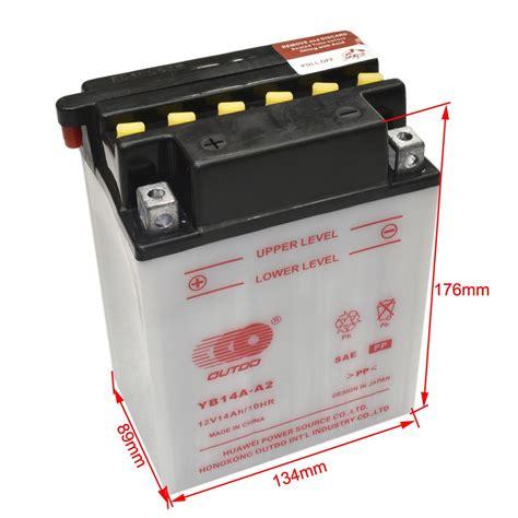 Kawasaki Atv Battery by New 12v Yb14a A2 Battery For Honda Motorcycle Kawasaki Atv