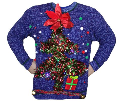 mens ugly christmas sweater xl light up by bellenouvelleco