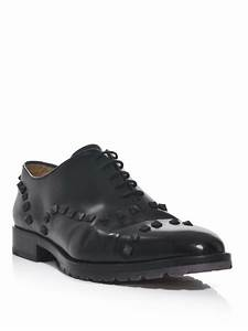 57b68982dfb Lyst - Valentino Studded Laceup Oxford Shoes in Black for Men. Valentino  Black Beatles Studded Loafers - Shoes - VAL58289 .