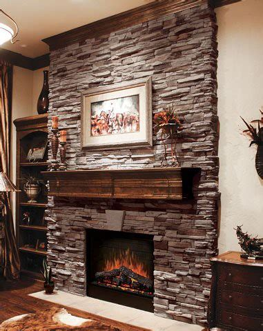 virginia ledge cape  grey stone veneer fireplace
