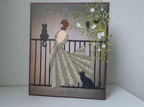 chambre pale et taupe carte femme au balcon quot iris folding quot les créations déco