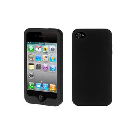 housse silicone iphone 4 noir
